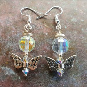 2 X Angel earrings