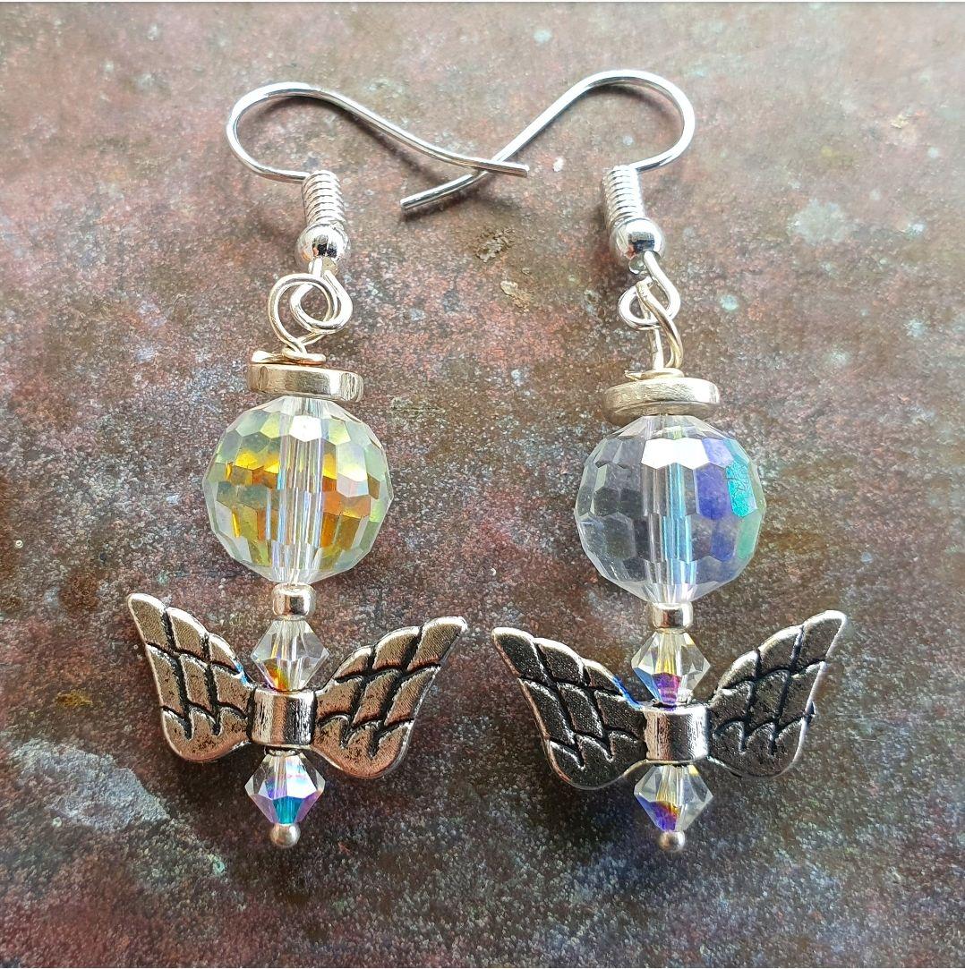 2 X Angel earings