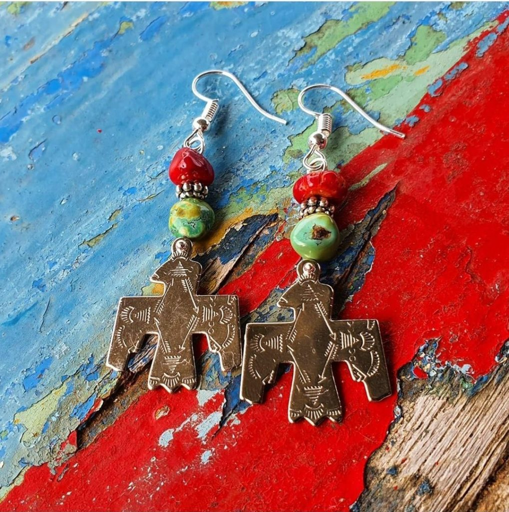 3X Thunder bird earrings