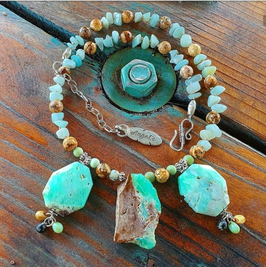 Chrysacola and Jasper necklace