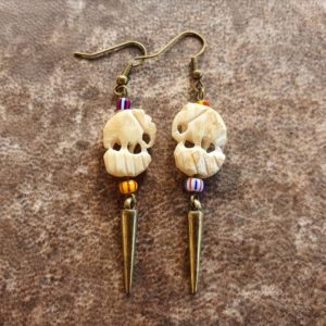 Elephant bone earrings