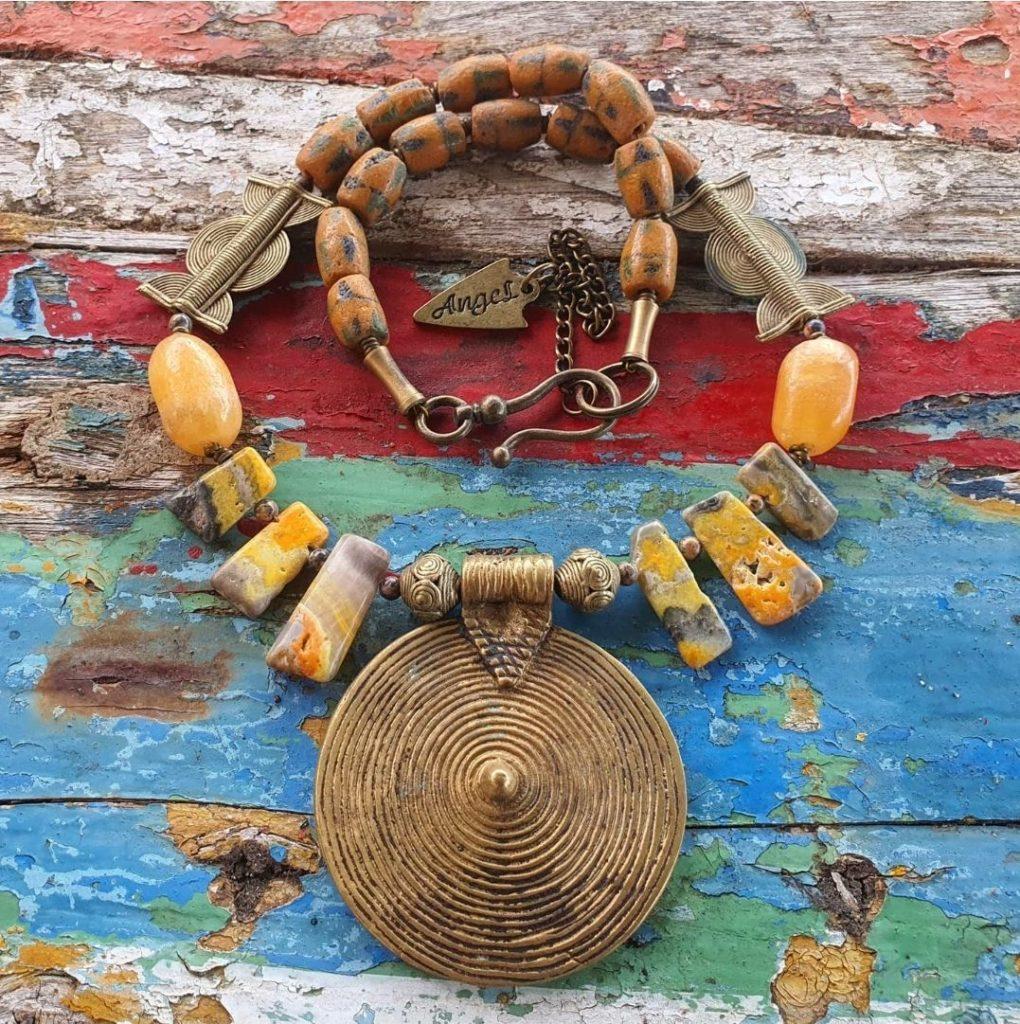 Ethiopian brass necklace
