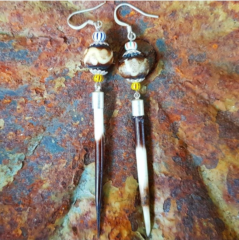 Porcupine earrings